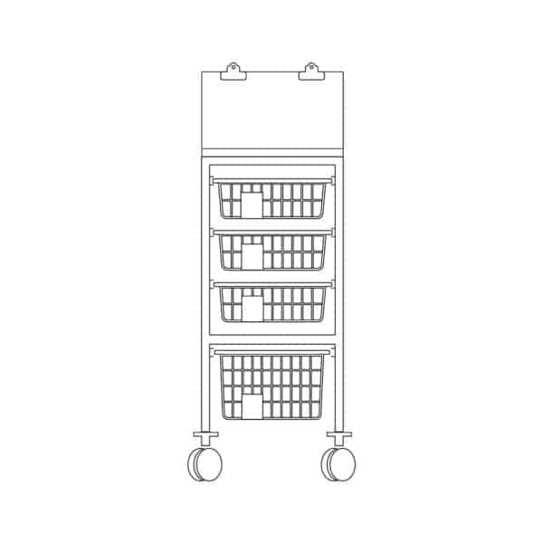 Half Section Chart Top Trolley - Type B