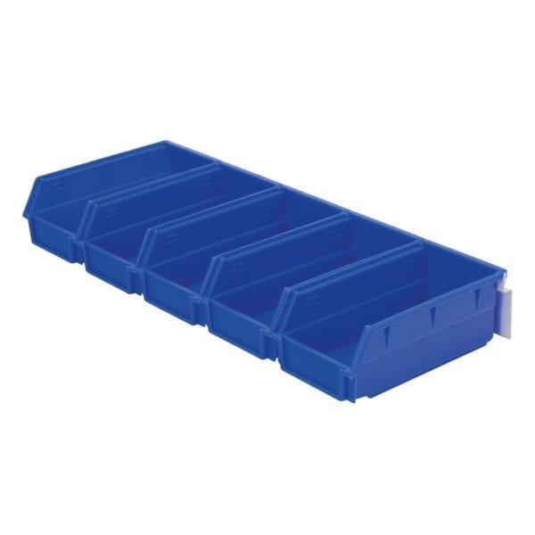 Bulk storage bins (Large) & back rail