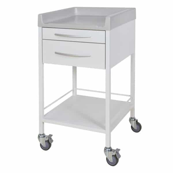 Single White Instrument Trolley
