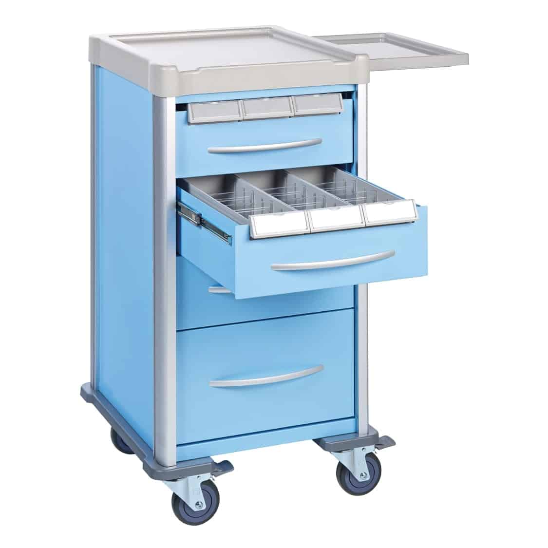 Narrow Medication Trolley 2