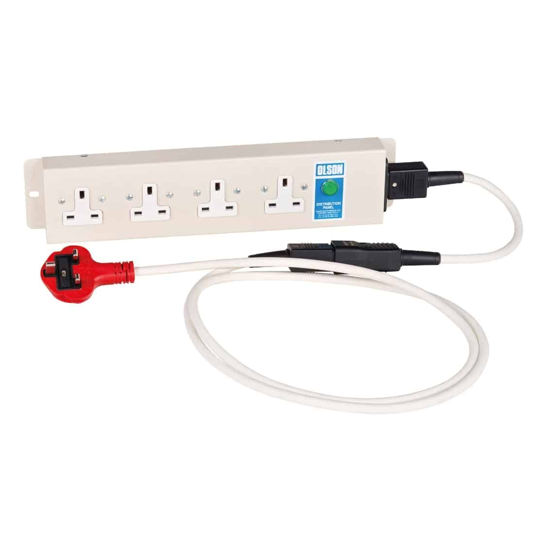4 socket electrical board with removable lead