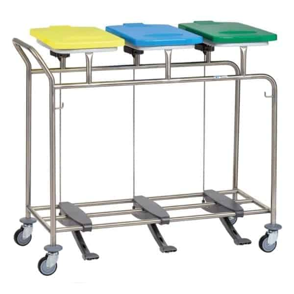 Triple Linen Trolley with Handle