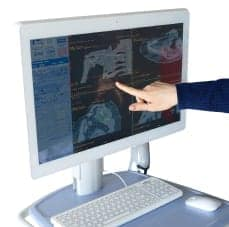 Agile Medical All-in-One PC Cart in use