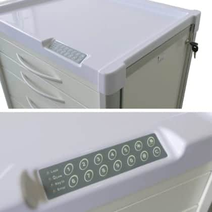Agile Medical integrated 'Elock' drawer locking system