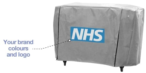Agile Medical Plastic Trolley Covers - customisable with your own branding